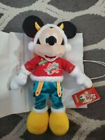 Disney Store Mickey Mouse Lunar New Year Of Ox Plush Tags