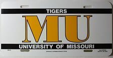"MISSOURI TIGERS MIZZOU MU NCAA TAG EXPRESS PLASTIC LICENSE PLATE 12"" x 6"" NEW"
