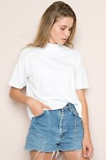 Brandy Melville Black Turtleneck Mock Neck Short Sleeve Shirt Jack Top Nwt