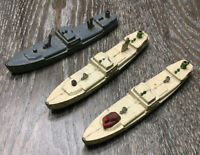 Vintage Tootsie Toy Frieghter Ship No. 1039 Made In The USA Lot Of 3