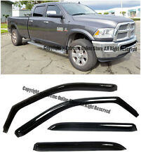 For 09-Up Ram 1500 2500 3500 Crew Cab In-Channel Side Window Visors Deflectors