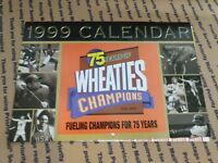 1999 WHEATIES Calendar 75 Years of Champions with poster insert