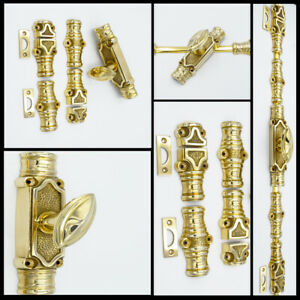 :French style Cremone Bolt French Door Bolt Polished Brass Espagnolette