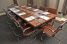 Industrial style office meeting table boardroom table conference table