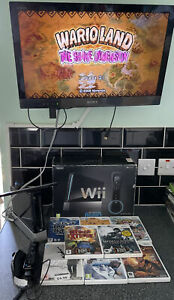 Nintendo Wii Black  Boxed And Games Bundle