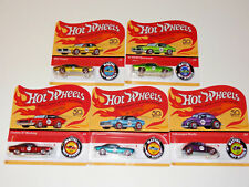 HOT WHEELS 50TH ANNIVERSARY REDLINE WITH BUTTON FTX83-956A 5 CAR SET