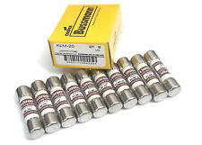 SET OF 10 EACH NEW LIMITRON KLM-20 KLM20 BUSS BUSSMANN 600V FAST ACTING FUSE
