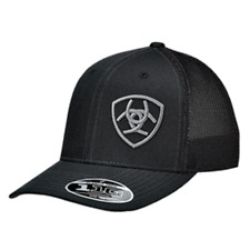 Ariat Mens Hat Baseball Cap Mesh Snapback Adjustable Black 110 Fit 1597801