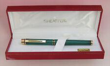 Sheaffer Targa 1183 Emerald Green Swirl Fountain Pen NEW OLD STOCK