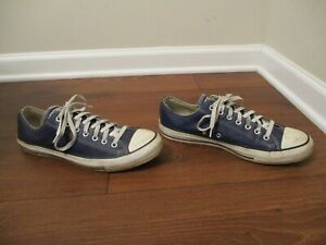 Used Sz 11 Fit Like 11.5 - 12 Converse Chuck Taylor All Star Low Shoes Leather