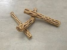 "ORGANIC CHOLLA WOOD 2 PCS 6"" PLECO FISH HERMIT CRAB *CHEWS* CLEANED AND TREATED"