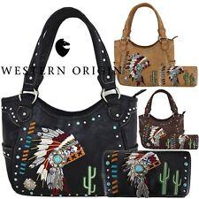 Native American Chieftain Cactus Concealed Carry Purse Women Handbag Wallet Bag