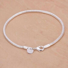 Ladies silver diamante heart charm BRACELET gift bangle jewellery gift new BL2