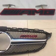 NEW Black AMG Grill Badge Front Emblem Fit Mecedes CLK CLS SLK C E S CL SL Ml