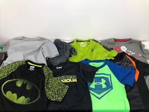 Russell Batman Under Armour Champion Boys Short Sleeve Lot Of 8 Sizes 6/7/8