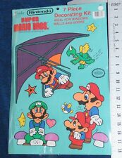 1989 Nintendo Super Mario Bros 7 Piece Large Decorating Kit still Sealed NES era
