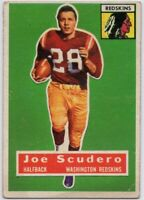 1956 Topps #85 SP Rookie Joe Scudero VG-VGEX Washington Redskins FREE SHIPPING