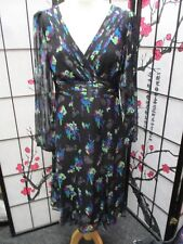 Stunning Silk Chiffon Dress Black Floral Pattern by MONSOON *UK