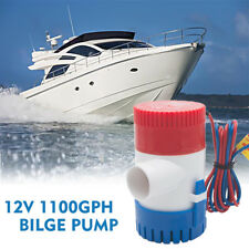 12v Submersible Bilge Water Pump 1100gph Caravan Camping Marine Fishing Boat