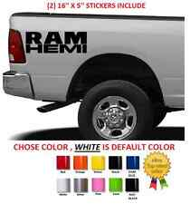 (#397) DODGE RAM 5.7 HEMI  RT HEMI DECALS STICKERS 13.5""