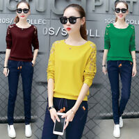 Fashion Autumn Korean Womens Ladies Casual Loose T Shirt Long Sleeve Blouse Tops