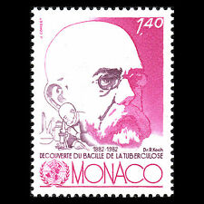 Monaco 1982 - 100th Anniv Discovery of Tubercle Bacillus Science - Sc 1340 MNH