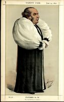 THE ARCHBISHOP OF YORK FAITH LOGIC RELIGION VINTAGE 1871 VANITY FAIR CARICATURE