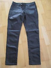 Orsay Damen Hose Gr. 38 braun Echtes Leder-Look Leder-Optik dunkelbraun Wie Neu