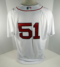 2018 Boston Red Sox Tim Hyers #51 Game Issued Signed White Patriots Day Jersey