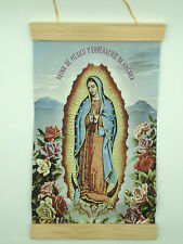 Guadalupe in Spanish, Hand Made Canvas Wall Print, 8x12, cream background
