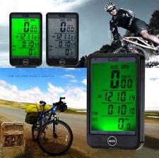 NEW WIRELESS LCD WATERPROOF CYCLE BIKE BICYCLE COMPUTER SPEEDOMETER TOUCH - UK