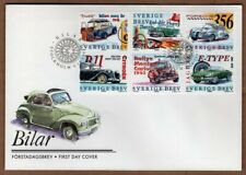 Sweden 1997 old cars FDC - less then face value price !!!