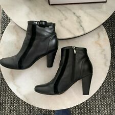 Airflex Woman's Black Leather Picasso Ankle Boots Size 7.5 Comfort Brand
