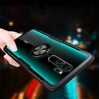 For Xiaomi Redmi Note 8 7 Pro Case Shockproof Armor Ring Holder Clear Hard Cover