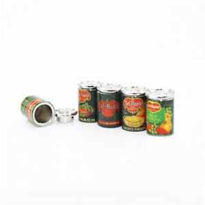 2pcs Mini Fruit Canned Dollhouse Miniature Food Kitchen Doll Accessories Gift