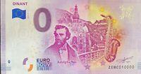 BILLET 0  EURO DINANT ALDOPH SAX BELGOQUE 2019  NUMERO 10000 DERNIER