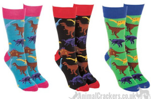Novelty fun adults Dinosaur lover gift socks Unisex One Size stocking filler
