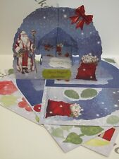 Grotto Card Die-cut Christmas Santa Theme 2pc Pk Cardmaking Arts & Crafts AM427