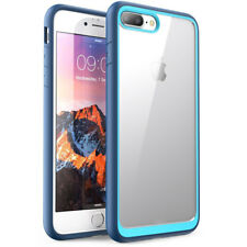 iPhone7 Plus iPhone8 Plus Clear Hybrid Case Slim Fit Frost Back Navy Blue
