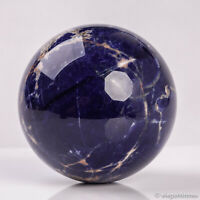 681g 83mm Large Natural Blue Sodalite Quartz Crystal Sphere Healing Ball Chakra