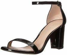 STUART WEITZMAN Women's Nearlynude Ankle Strap Black Sandals 11076 Size 11