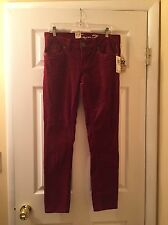 Seven For All Mankind Skinny Burgundy/ Wine Color Corduroy Pants Size 10 New