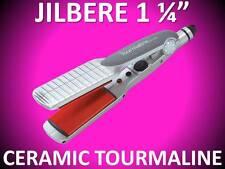 """NEW JILBERE CERAMIC TOOLS 1 1/4"""" TOURMALINE TITANIUM 450° FLAT IRON STRAIGHTENER"""