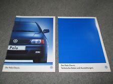 VW Polo Classic Prospekt, 1998, Brochure,Volkswagen