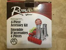 New listing Weston Roma Food Strainer and Sauce Maker 4 Piece Accessory Kit