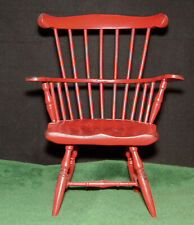 """Vintage Artist Made Miniature Doll or Bear Wooden Aged Windsor Chair 9 1/2"""" x 6"""""""