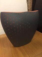 Alessi Aldo Vase In Black Design by Doriana e Massimiliano Fuksas FM22 B REDUCED