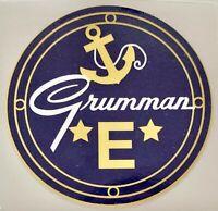 "WWII Navy ""E"" Award Vinyl Decal, Grumman Plane WWII Home Front Aviation DEC-0161"