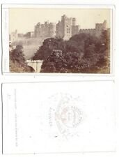 CDV View of Alnwick Castle Carte de Visite Photograph by Potter of Alnwick