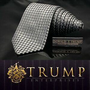 DONALD J. TRUMP~ SIGNATURE COLLECTION Black NECKTIE POWER TIE 61""